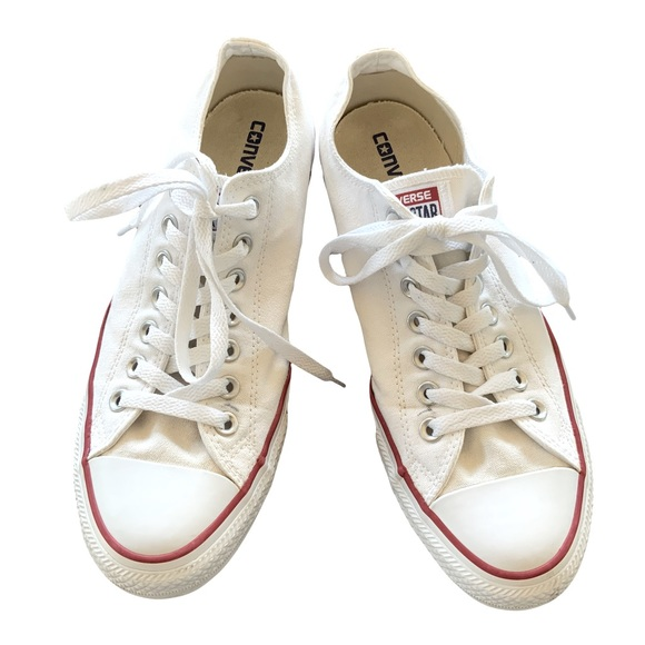 Converse All Star White Canvas Shoes.  Unisex